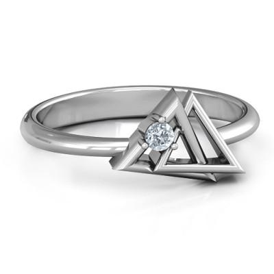Interlocked Triangle Geometric Ring - Custom Jewellery By All Uniqueness