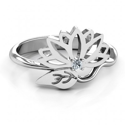 Leaves and Lotus Wrap Ring - Custom Jewellery By All Uniqueness