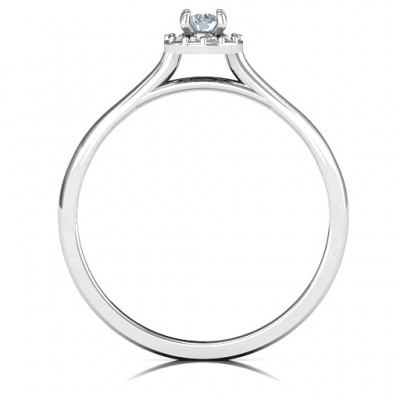 Little Luxury Halo Ring - Custom Jewellery By All Uniqueness