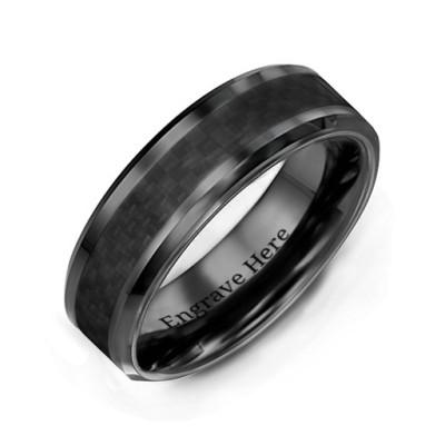 Men s Black Nightfall Ceramic Ring - Custom Jewellery By All Uniqueness