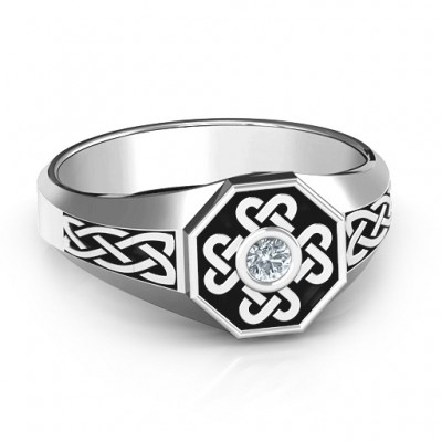 Men s Celtic Knot Signet Ring - Custom Jewellery By All Uniqueness