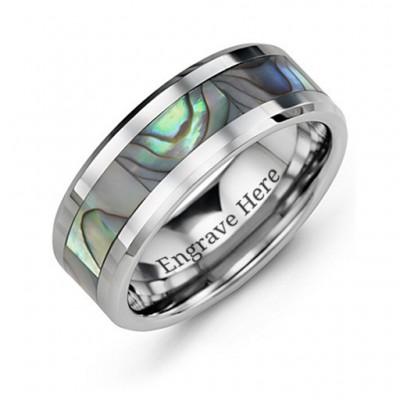 Men s Pearl Belt Tungsten Ring - Custom Jewellery By All Uniqueness