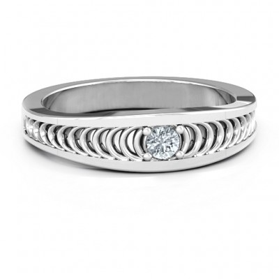 Modern Elegance Band Ring - Custom Jewellery By All Uniqueness