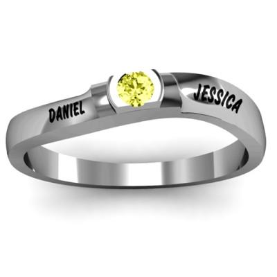 Open Bezel Set Swirl Ring - Custom Jewellery By All Uniqueness
