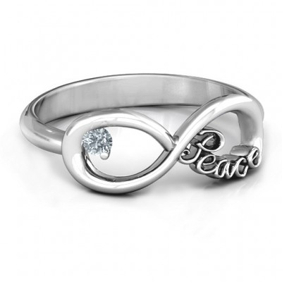 Peace Infinity Ring - Custom Jewellery By All Uniqueness
