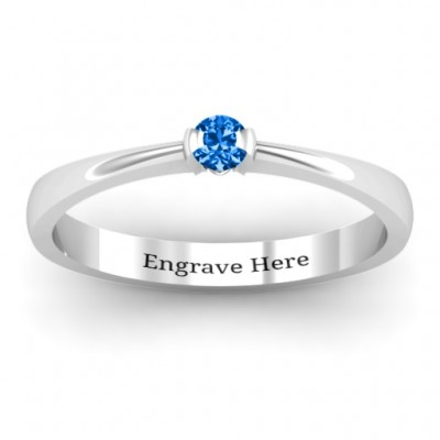 Semi Bezel Set Solitaire Ring - Custom Jewellery By All Uniqueness