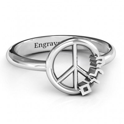 Shalom Peace Ring - Custom Jewellery By All Uniqueness