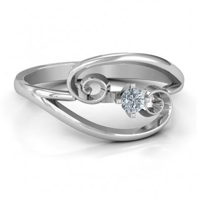 Split Shank Swirl Ring - Custom Jewellery By All Uniqueness