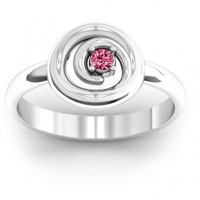 Silver Swirling Desire Ring - Custom Jewellery By All Uniqueness