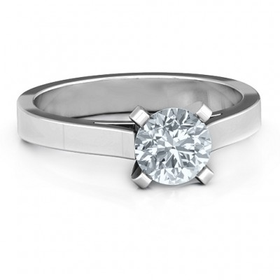 Silver Classic Solitaire Ring - Custom Jewellery By All Uniqueness