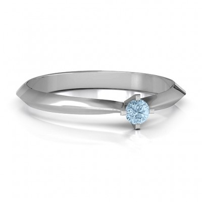 Silver Knife Edge Solitaire Ring - Custom Jewellery By All Uniqueness