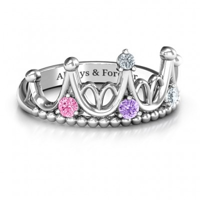 Silver Like A Dream Tiara Ring - Custom Jewellery By All Uniqueness