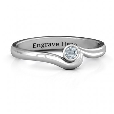 Silver Low Wave Ring - Custom Jewellery By All Uniqueness