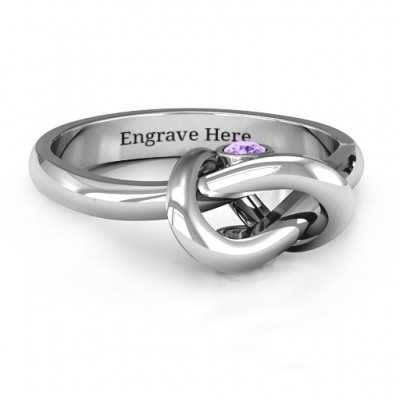 Silver Modern Infinity Heart Ring - Custom Jewellery By All Uniqueness