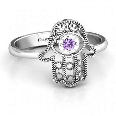 Silver Protection Hamsa Ring - Custom Jewellery By All Uniqueness