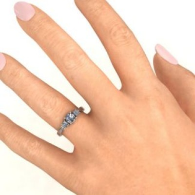 Silver Three Stone Eternity Ring - Custom Jewellery By All Uniqueness