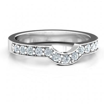 Silver U-Shape Shadow Ring - Custom Jewellery By All Uniqueness