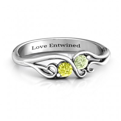 Swirl of Style Birthstone Ring - Custom Jewellery By All Uniqueness