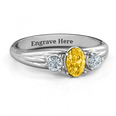 Three Stone Oval Centre Ring - Custom Jewellery By All Uniqueness