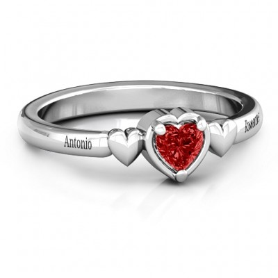 Triple Heart Ring - Custom Jewellery By All Uniqueness