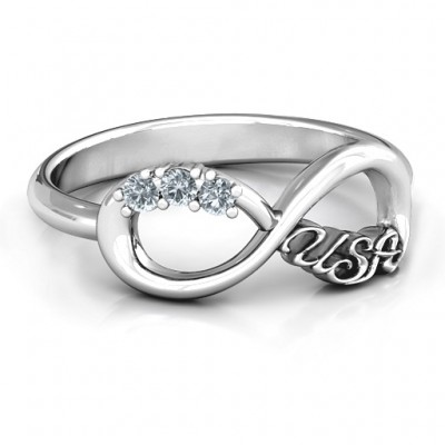 USA Infinity Ring - Custom Jewellery By All Uniqueness