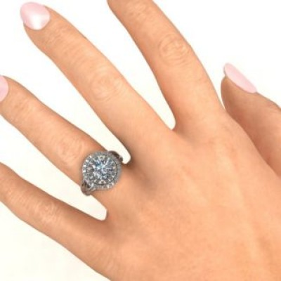 Victoria Double Halo Ring - Custom Jewellery By All Uniqueness