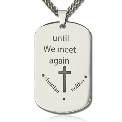 Remembrance Dog Tag Name Necklace - Custom Jewellery By All Uniqueness