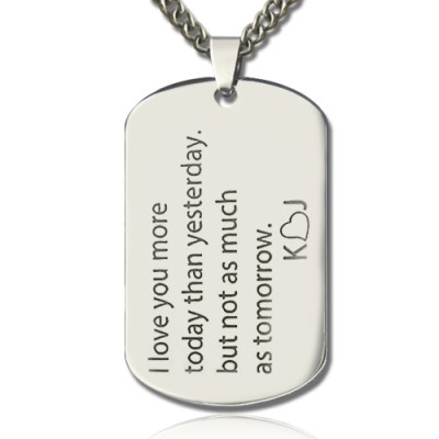 Love Song Dog Tag Name Necklace - Custom Jewellery By All Uniqueness