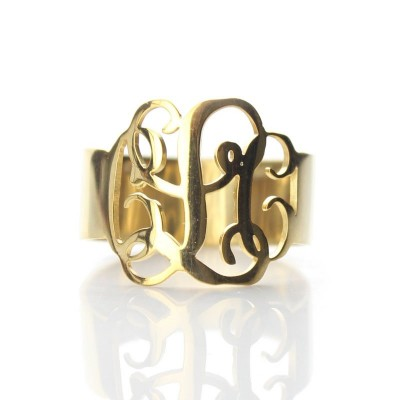 Gold Monogram Ring - Custom Jewellery By All Uniqueness