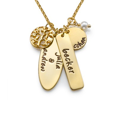 Gold Plated Silver Family Tree Jewellery - Custom Jewellery By All Uniqueness