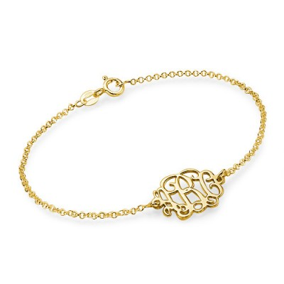 Gold Plated Silver Monogram Bracelet/Anklet - Custom Jewellery By All Uniqueness