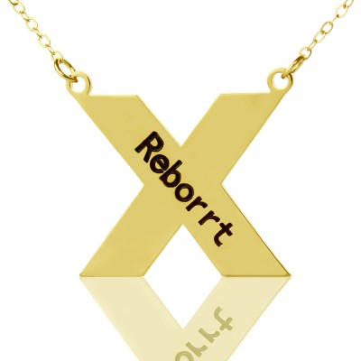 Gold Plated Silver St. Andrew Name Cross Necklace - Custom Jewellery By All Uniqueness