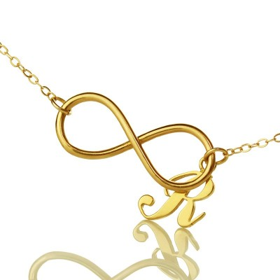 Infinity Knot Initial Necklace Gold plating - Custom Jewellery By All Uniqueness