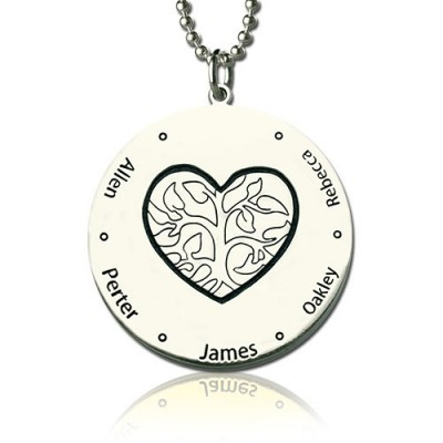 Family Tree Jewellery Necklace Engraved Names - Custom Jewellery By All Uniqueness