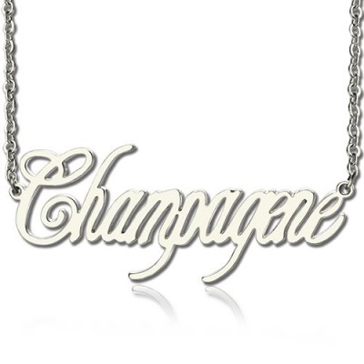 Unique Name Necklace Silver - Custom Jewellery By All Uniqueness