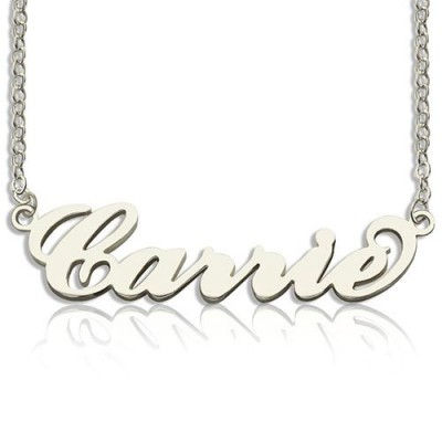 Carrie Name Necklace Silver - Custom Jewellery By All Uniqueness