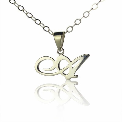 Silver Letter Necklace - Custom Jewellery By All Uniqueness