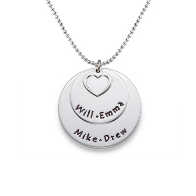 Family Necklace in Silver - Custom Jewellery By All Uniqueness