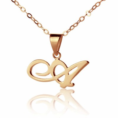 Custom Letter Necklace Rose Gold Plated - Custom Jewellery By All Uniqueness