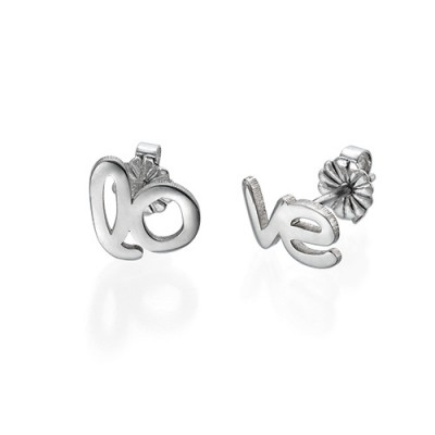 Hope and Love Stud Earrings - Custom Jewellery By All Uniqueness