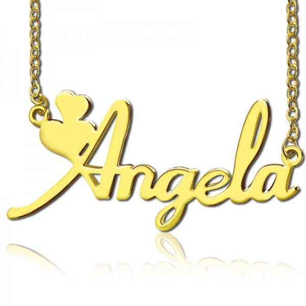 096f7a9ed0e30 Gold Fiolex Girls Fonts Heart Name Necklace - Custom Jewellery By All  Uniqueness