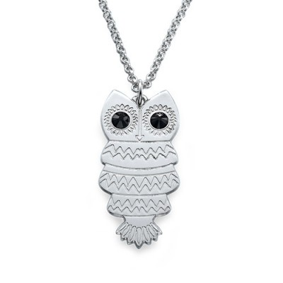 Owl Necklace with Back Engraving - Custom Jewellery By All Uniqueness