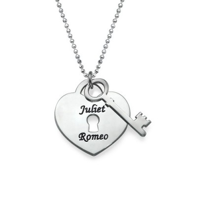 Heart Lock with Key Pendant - Custom Jewellery By All Uniqueness