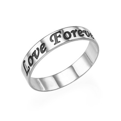 Script Silver Promise Ring - Custom Jewellery By All Uniqueness