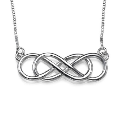 Silver Double Infinity Necklace - Custom Jewellery By All Uniqueness