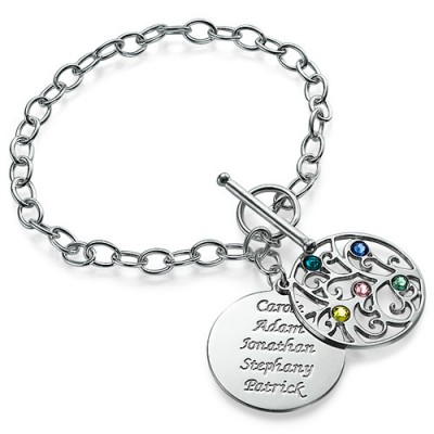 Silver Tree of Life Bracelet - Filigree Style - Custom Jewellery By All Uniqueness