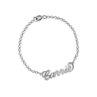 Silver and Crystal Name Bracelet/Anklet - Custom Jewellery By All Uniqueness