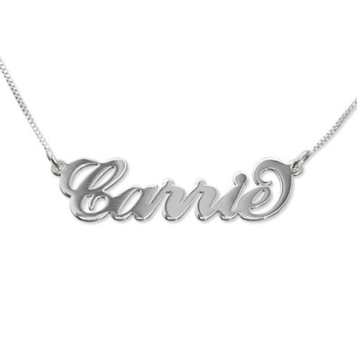 Small Name Necklace - Carrie Style - Custom Jewellery By All Uniqueness