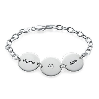 Special Gift for Mum - Disc Name Bracelet/Anklet - Custom Jewellery By All Uniqueness