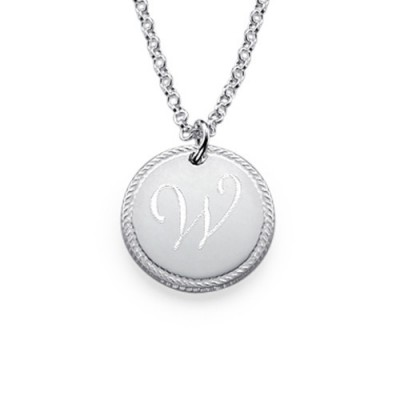 Silver Circle Initial Necklace - Custom Jewellery By All Uniqueness